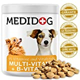 Medidog Premium Multivitamin Tabletten (300 Stück) für alle Hunde, 15 Vitamine + Vitamin-B Komplex für Fell und Haut + Kalzium, Biotin, Folsäure, Inositol, Cholin, Pantothensäure