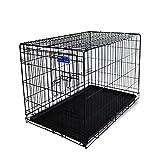 Simply Maison | Hundekäfig | Transportbox | Drahtkäfig mit 1 oder 2 Türen | Tragegriffen | Mit oder ohne Rollen | ( Größe S - M - L - XL mit Rollen verfügbar) | Folding Metall W/Tablett (2 Türen, XXL)