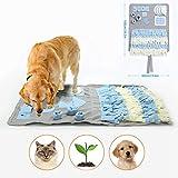 Schnüffelteppich für Hunde Schnüffelrasen Hund Schadstofffreies Hundespielzeug Fördert Natürliche Nahrungssuche (100 x 60cm)