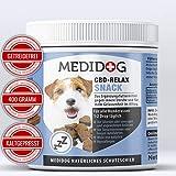 Medidog 400g Premium Relax Snack für Hunde, extra kaltgepresst und getreidefrei, Beruhigung, Entspannung, Innere-Ruhe, natürliches Beruhigungsmittel für Hunde