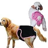 JBY 2PSC Hygieneunterhose waschbare Hundeschutzhose Haustier Hundin Hundewindeln Belly Wrap Wiederverwendbare Sanitär Windel Hundinnen Physiologische Unterwäche