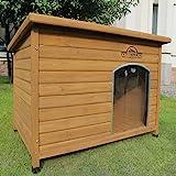 Pets Imperial Haustiere Imperial Extra Large Isolierter Norfolk Hölzerner Hundhütte mit Stützschienen und abnehmbarem Fußboden für einfache Reinigung