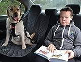 tierlando Autoschondecke, Autoschutzdecke, Hundedecke, Autodecke mit Reißverschluß teilbar, 200 x 140 cm, Schwarz – SMR-200-03