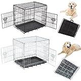 EUGAD Hundekäfig Faltbar Käfig Transportkäfig Hundebox Auto Hundetransportbox mit 2 Türen 61*46*51 cm HT2080sb1