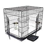 Wiltec Haustier Hundebox Transportbox Komplettset Hundekäfig Faltbar Transportkäfig L 107x71x76cm Set
