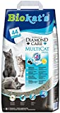 Biokat's Diamond Care Multicat Fresh Katzenstreu mit Duft | staubfreie Klumpstreu mit Aktivkohle und Cotton Blossom Duft | 1 Sack (1 x  8 L)
