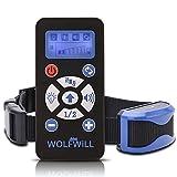 WOLFWILL Wiederaufladbar Hunde Training Halsband Erziehungsband mit Ton und Vibration, Wasserdicht, Garantie,bzw.Deustche Anleitung