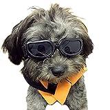 Namsan Dog Goggles Stilvolle wasserdichte Anti-UV-Sonnenbrillen für Hündchen Welpen-Schwarz