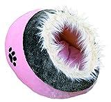 Trixie 36301 Minou Kuschelhöhle, 35 × 26 × 41 cm, rosa/grau