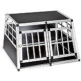 TecTake Alu Hundetransportbox -diverse Größen- (Double Klein)