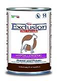 Exclusion Diet Hypoallergen für Hunde mit Kaninchen und Kartoffel, 24er Pack (24 x 400 g)