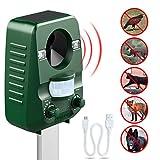 AngLink Solar Katzenschreck Ultraschall abwehr mit Batteriebetrieben und Blitz Empfindlichkeit Wetterfest Hundeschreck Tiervertreiber [2018 Neuste Upgrade-Version]