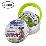 KOBWA 2 STÜCKE Floh Zecken Kragen für Hunde und Katzen, Floh-und Zecken Prävention Halsbänder, 8 Monate Schutz - Verstellbar für Kleine Mittelgroße Haustiere, natürliche Formel