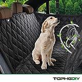 TOPHGDIY Auto Kofferraumschutz Kofferraum Decke mit Seitenschutz für Hunde, Auto-schondecke Hundeschutzdecke für Hunde Autodecke Wasserdicht, Super Weich Rutschfest Hunde-Decke für alle Automodell - Universalgröße 57'x53'