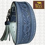 Woza Premium WINDHUND Halsband 6,3/42CM Flowers Vollleder Rindleder Nappa Handmade Greyhound Collar