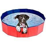 Karanice Hundepool Haustierpool Faltbare Hunde Pools für Hunde und Kinder Badewanne Doggy Pool 80x20CM aus PVC