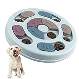 Elezenioc Hundespielzeug Intelligenz Hundefutter Welpenspielzeug,Interaktives Verlangsamen Sie das Essen von Hundespielzeug,Rutschfestes Intelligenzspielzeug für Hunde,Welpen und Katzen