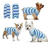 oUUoNNo Heilungsanzüge für Hunde, chirurgische Erholung für weibliche männliche Bauchwunden, Spay oder Hautkrankheiten, Kegel-E-Halsband-Alternativen