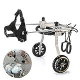 ANMAS Power Verstellbarer und tragbarer Rollstuhl für Hinterbeine, Hundegeschirr und Hinterbeine, Rehabilitationshilfe für Alterung, Behinderung, Verletzungen, Arthritis, Hund/Katze/Haustier - (S)