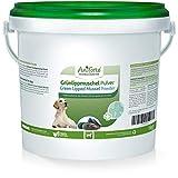 AniForte Grünlippmuschelpulver für Hunde 1kg - Natürliches Grünlippmuschel Pulver in Vollfettqualität, Omega 3 & 6 Fettsäuren, Glycosaminoglycane 3,3%, unterstützt Gelenke & Gelenkfunktion