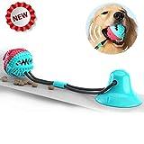 Yibaision Hundekauspielzeug, Pet Molar Bite Toy mit Saugnapf Interaktives Hundespielzeug Futterspielzeug Durable Treat Dispenser Zahnreiniger für große kleine Hunde Welpen