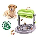Alsanda Interaktives Hundespielzeug Welpenspielzeug Futter Napf 2in1 für Hunde und Katzen | Gesunder Snackspender | Unzersörbares Intelligenzspielzeug für Hunde | Mit Anti Schling Napf | BPA-Frei
