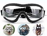 LEKO Verstellbare Sonnenbrille Verstellbarer Riemen für Hundebrillen, geeignet für UV-Schutz, Wind und wasserdichte Schutzbrille für Mittlere und große Hunde