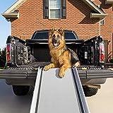 PetSafe Solvit Deluxe Teleskop Aluminium Hunderampe XL, Anti- Rutsch Autorampe, für Hunde und Katzen