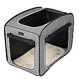 Petsfit Hundebox Faltbare für Hund & Katze Transportbox Katzenbox Auto Stoff für große kleine Hunde mit Fleece Matte