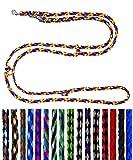 Hundeleine kleine Hunde bis 15 Kg / Doppelleine 4-Fach verstellbar 2,40m / 2,80m / 3,50m Führleine sehr leicht & robust (2,40m 3-Fach verstellbar, Navajo (8 Farben))