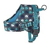 Hurtta Go Harness Hundegeschirr für Hunde, gepolstert, vorne verstellbar, mit Griff und Reflektor-Band, Blau 55-65cm