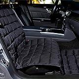 Doctor Bark Autositzauflage Beifahrersitz - hochwertige Schutzdecke passend für alle PKWs/SUVs (Schwarz)