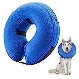 Frifer Aufblasbar Halsband für Haustier Hund Katze Kragen Schutz Einstellbar Bequem Schutzkragen mit Magic Reißverschluss, L (Halsumfang: 42 - 55cm / 16.6 - 21.6in)