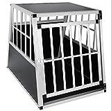 EUGAD Hundebox Transportbox Hundetransportbox Aluminium 1 Türig Reisebox Gitterbox Box 0046HT