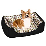 Yaheetech Hundebett waschbar Hunde Schlafplatz Hundekissen Katzenbett Hundesofa mit Kissen 74 x 54,5 x 18 cm