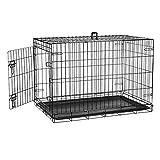 Defacto HundeKäfig 2 Türen faltbar Hundebox Gitterbox Transport Käfig Drahtkäfig S-XXL DF-HB005 (M)
