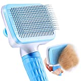 ACE2ACE Haustier Hundebürste Katzenbürste, Haustier Bürsten, Haar Entferner Haustierbürste für Langhaar und Kurzhaar, Sauberes Haustierhaar von der Bürste mit Einem Knopf