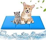Haustier Kühlmatte für Hunde und Katzen, 90cm × 50cm Lidasen Grosse Besser Verschleißfest Hundematte mit Natürliches Selbstkühlendes Gel, Komfortabel Wasserdicht kühlende Haustier Matte