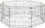 Amazon Basics – Faltbares Metall-Gehege, für Haustier, Hund, Trainingszaun, 152,4 x 152,4 x 60,9 cm