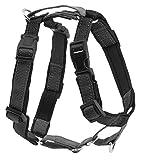 PetSafe 3-in-1-Geschirr und Rückhaltegurt für Hunde, Mit Anti-Zieh-Ring und Rückhaltegurt fürs Auto, Größe L, Schwarz