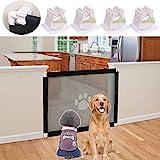 Nifogo Magic Gate, Hunde Türschutzgitter, Hundenetz Magic Gate, Installieren Hundeschutzgitter Treppenschutzgitter Absperrgitter für Haustier (100 * 80CM)
