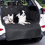 Bedsure Kofferraumschutz Hund mit Seitenschutz - wasserdicht und rutschfest Kofferraum schutzmatte, universal hundedecke Auto Kofferraum, robuste Schutzmatte für Hunde, Schwartz