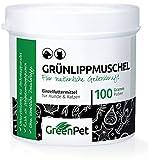 GreenPet Grünlippmuschel-Pulver 100g - Naturprodukt für Hunde und Katzen, Gelenk-Pulver Naturrein, Aktiv Gelenk-Kraft zur Unterstützung Gelenke, Knochen, Bänder, Sehnen, Qualität aus Neuseeland