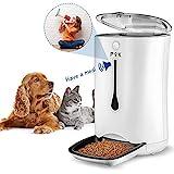 PUPPY KITTY 6.5L Automatischer Futterautomat für Katze und Hund, Automatischer Futterspender mit Timer mit bis zu 4 Mahlzeiten am Tag ,LCD Bildschirm und Ton-Aufnahmefunktion