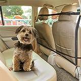 Nobleza Auto Hundenetz Sicherheitsnetz, Trennnetz zwischen Haustier & Autofahrer, Autonetz Schutznetz für Hunde Haustier, 115 x 62cm
