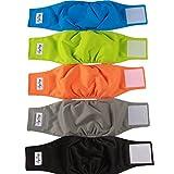 JoyDaog Wiederverwendbare Bauchbänder für Hunde, (5er Pack) Premium Waschbare Hundewindeln Männliche Welpen Windeln, S