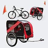 Hunde Fahrradanhänger mit Sicherheitsdrehkupplung, Fliegengitter & Regenschutz