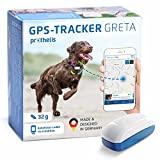 Prothelis Greta Hunde GPS Tracker Mini Peilsender mit App 32g leicht wasserdicht | Tracking GPS für Hunde mit Akku Laufzeit bis 5 Tage | GPS Tracker Hund klein unauffällig für das Hundehalsband