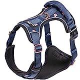 Freudentier Hundegeschirr - Außergewöhnlich elegant - Atmungsaktive Polsterung - Bombenfester Sitz - Brustgeschirr für große, mittelgroße und kleine Hund