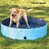 Forever Speed Hundepool,Doggy Pool,Katzenpool,Faltbares Pool,Kinderbadewann,Umweltfreundliche PVC,rutschfest,Gut Abgedichtet-Haustiere,Geschenke der Kinder (3Größe) (160x30cm, Blau)